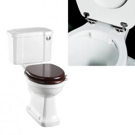 Burlington Rimless Close Coupled WC & Push Button Cistern