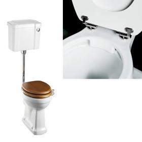Burlington Rimless Medium Level WC with Front Push Button Cistern