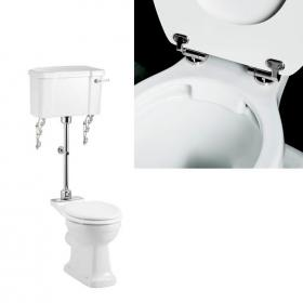 Burlington Rimless Medium Level WC & Lever Cistern