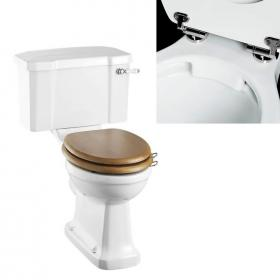 Burlington Rimless Slimline Close Coupled WC & Lever Cistern