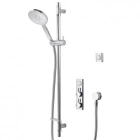 Aqualisa HiQu Concealed Smart Shower with Slide Rail & Round Shower Head