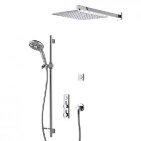 Aqualisa HiQu Dual Outlet Smart Shower with 300mm Square Head & Slider Rail