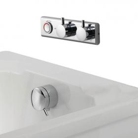 Aqualisa HiQu Smart Bath Valve with Overflow Bath Filler