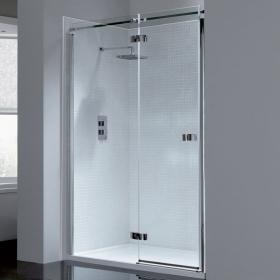 April Prestige Frameless Hinged Shower Door
