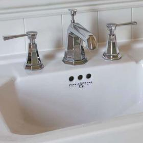 Perrin & Rowe Deco Lever Deck Mounted Basin Mixer