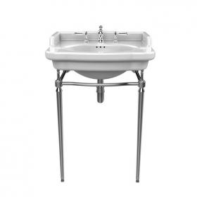 Heritage Victoria Basin & Abingdon Washstand Chrome Finish