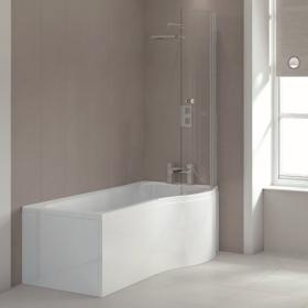 Photo of Sommer P Shaped 1700mm Shower Bath