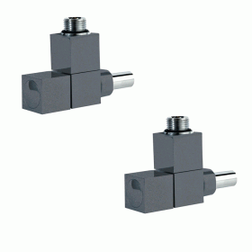 Photo of Phoenix Anthracite Square Angled Radiator Valves