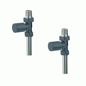 Photo of Phoenix Anthracite Minimalistic Straight Radiator Valves