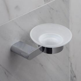 Photo of Vado Photon Frosted Glass Soap Dish & Holder