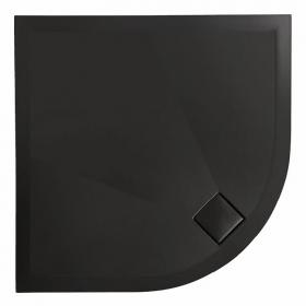 Photo of Simpsons Plus+Ton Matt Black 900mm Quadrant 30mm Ceramic Shower Tray