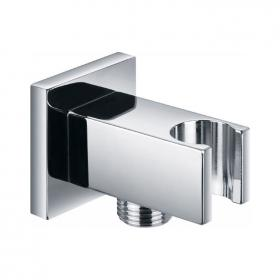 Photo of Pura Square Elbow Wall Outlet with Handset Holder