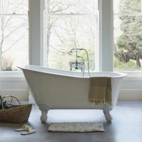 Clearwater Romano Grande 1690mm Clear Stone Freestanding Bath