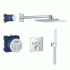 Grohe SmartControl Rainshower Square Shower Kit