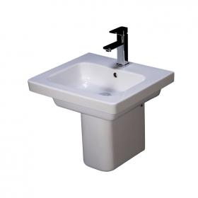 Rak Resort 550mm Single Tap Hole Basin and Semi Pedestal