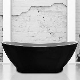 Charlotte Edwards Richmond Black 1760mm Freestanding Bath