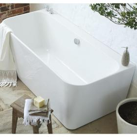 Waters I-Line River 1600mm Back-To-Wall Bath
