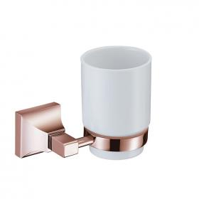 Heritage Chancery Rose Gold Tumbler & Holder