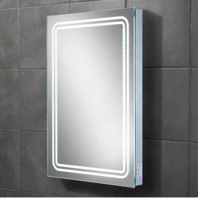 HIB Rotary LED Bathroom Mirror with Charging Socket