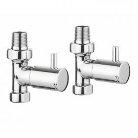 Bauhaus Design Straight Radiator Valves