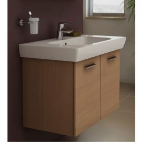 Vitra S20 85cm Golden Cherry Double Door Vanity Unit & Basin