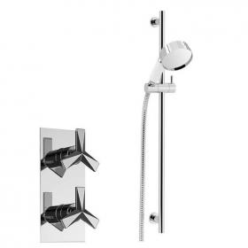 Heritage Hemsby Recessed Shower with Deluxe Flexible Riser Kit Chrome Finish