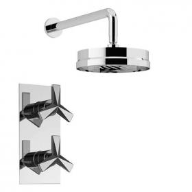 Photo of Heritage Hemsby Recessed Shower with Deluxe Fixed Head Kit Chrome Finish