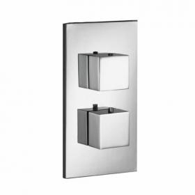 Pura SQ2 Flow Single Outlet Thermostatic Shower Valve
