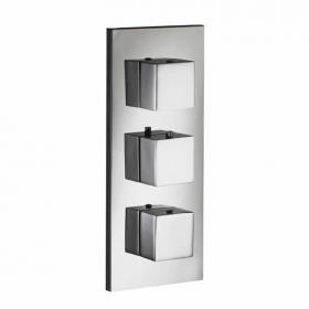 Pura SQ2 Flow+ Twin Outlet Thermostatic Shower Valve