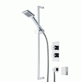 Photo of Roper Rhodes Event Square Dual Function Shower System With Bath Filler