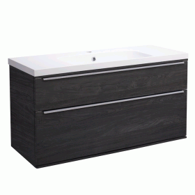 Roper Rhodes Scheme 1000mm Umbra Wall Mounted Vanity Unit and Basin