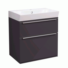 Roper Rhodes Scheme 500mm Matt Carbon Wall Mounted Vanity Unit and Basin