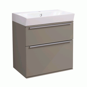 Roper Rhodes Scheme 500mm Matt Light Clay Wall Mounted Vanity Unit and Basin