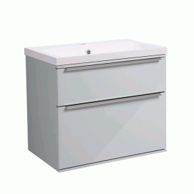 Roper Rhodes Scheme 600mm Gloss Light Grey Wall Mounted Vanity Unit and Basin