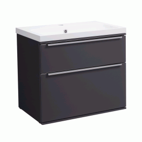 Roper Rhodes Scheme 600mm Matt Carbon Wall Mounted Vanity Unit and Basin