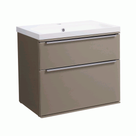 Roper Rhodes Scheme 600mm Matt Light Clay Wall Mounted Vanity Unit and Basin