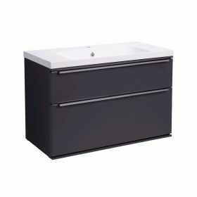 Roper Rhodes Scheme 800mm Matt Carbon Wall Mounted Vanity Unit and Basin