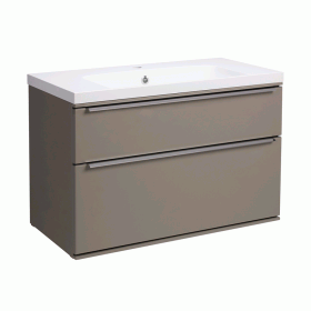 Roper Rhodes Scheme 800mm Matt Light Clay Wall Mounted Vanity Unit and Basin