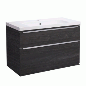 Roper Rhodes Scheme 800mm Umbra Wall Mounted Vanity Unit and Basin