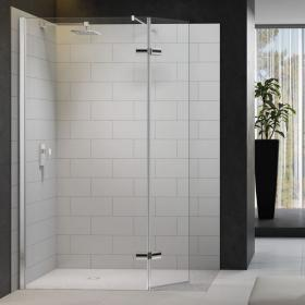 Photo of Merlyn 8 Series Shower Wall With Hinged Swivel Panel