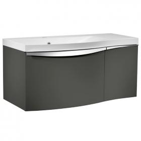 Roper Rhodes Serif Gloss Dark Clay 900mm Wall Mounted Unit & Basin