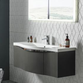 Roper Rhodes Serif Gloss Dark Clay 1200mm Wall Mounted Unit & Basin