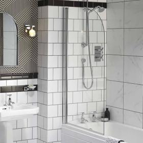 Photo of Heritage Sherborne Curved Bath Screen