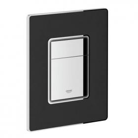 Grohe Skate Cosmopolitan Black Leather Dual Flush Plate