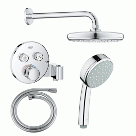 Grohe SmartControl Tempesta Twin Outlet Shower Kit