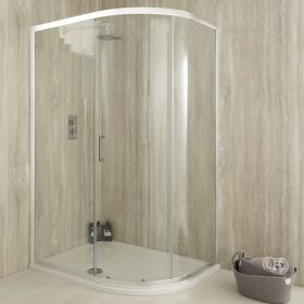 Sommer 6 Offset Quadrant Single Door Shower Enclosure