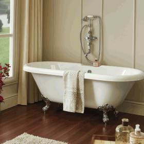 Phoenix Stainforth  1700 x 750mm Double Ended Roll Top Bath