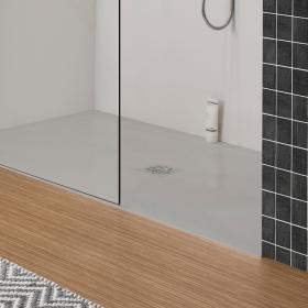 Simpsons Storm Grey 25mm Stone Resin 1400mm x 800mm Rectangular Shower Tray