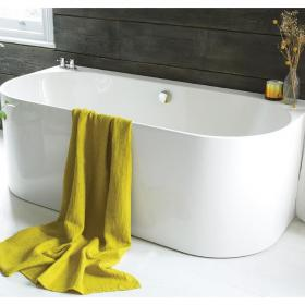 Waters I-Line Strait 1660mm Back-To-Wall Bath