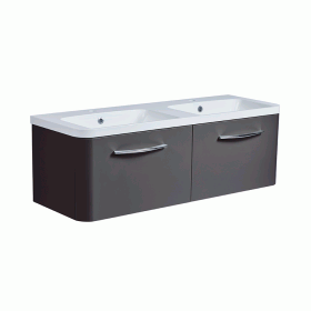 Roper Rhodes System 1200mm Gloss Dark Clay Wall Mounted Vanity Unit and Basin